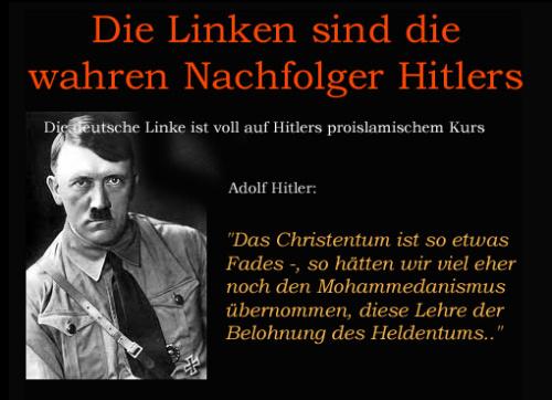 Nazi Merkel Hitler Gleiche Ziele Methoden